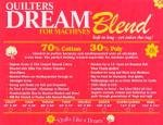Quilters Dream Blend 70/30 Natural Queen 93inx108in qui