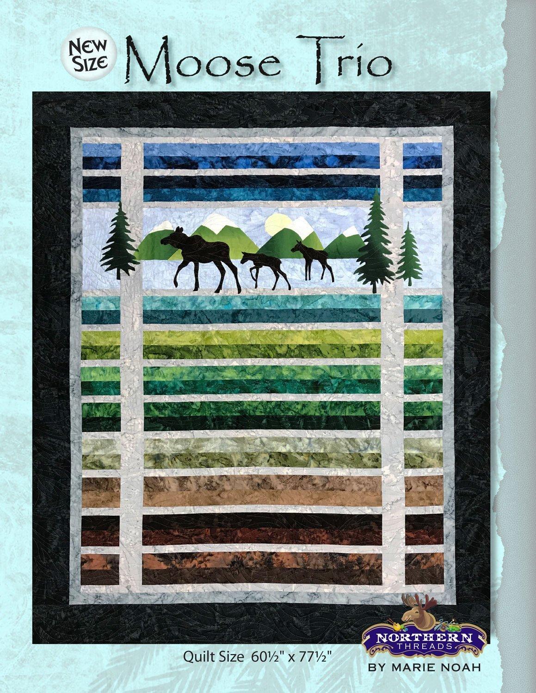 Moose Trio Pattern Northern Threads