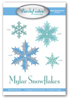 Mylar Snowflakes Embroidery CD `