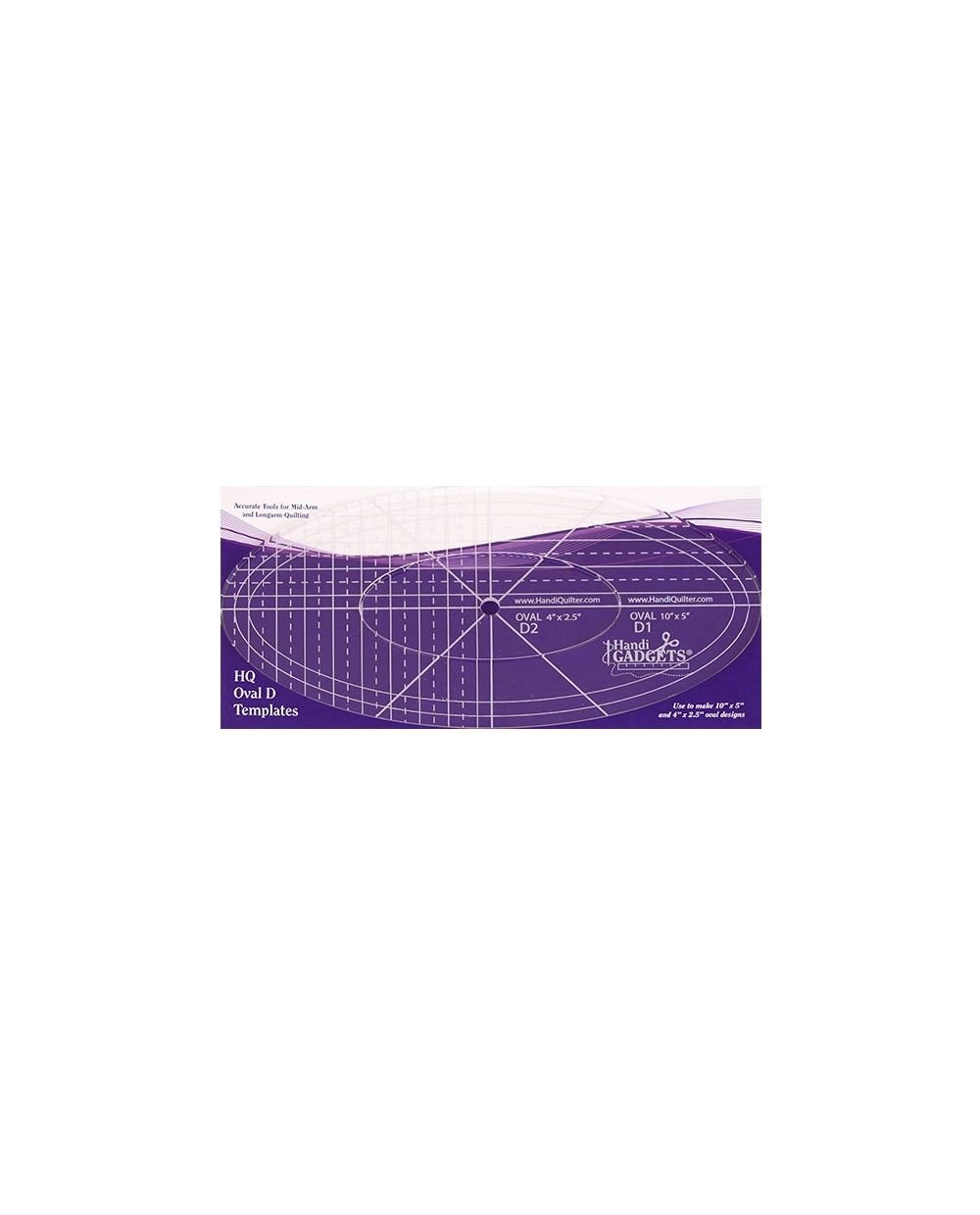 HQ Rulers - Oval D Templates `