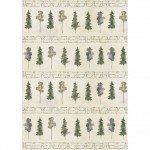 P&B Textiles Forest Retreat Line Trees 4340G  PRE=ORDER