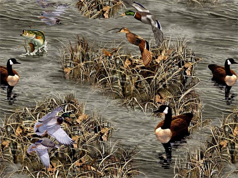 Print Concepts Realtree Flannel Ducks and Fish 10022 `