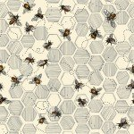 Bee Kind 12099222 Honeycomb & Bees Paintbrush Studio