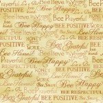 Bee Kind 120-99251 Gold Words Paintbrush Studio