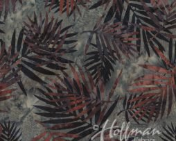 Hoffman Fabrics Q2104-270 Palm Leaves Hippo Hoffman Batiks  '