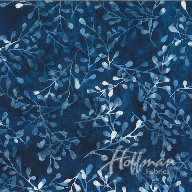 Hoffman Fabrics 2110-87 Sprigs Blueberry Hoffman Batiks ` '