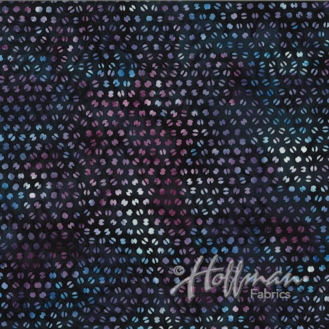 Q2118-85 Ditsy Dot Blueberry Bali Batik by Hoffman Fabrics '