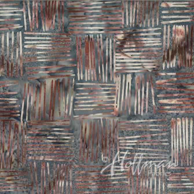 Q2121-270 Basket Weave Hippo Bali Batik by Hoffman Fabric '