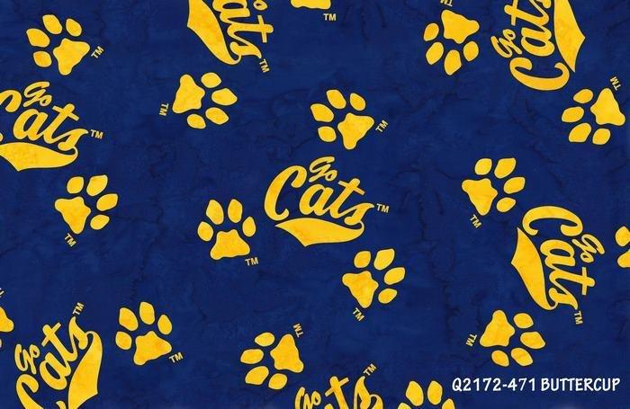 Montana State University Bobcat Q2172-471Buttercup Hoffman Hand Dyed Batiks `