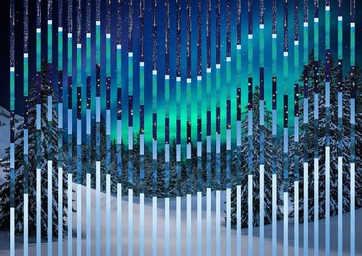 Northern Threads Aurora Bargello Quilt Kit