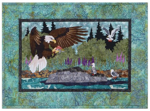 Wildfire Designs Alaska River Run: Days Catch Wallhanging Laser Cut Kit Plus Pattern WDA2005LKP