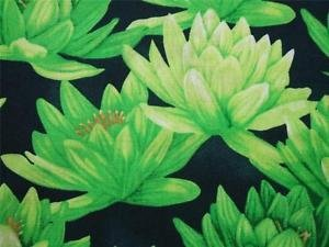 Clothworks - Water Lilies - Green