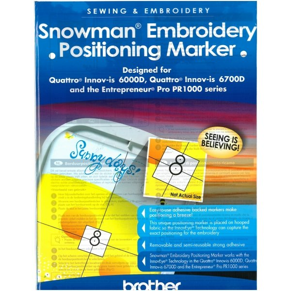 Snowman embroidery Positioning Marker `