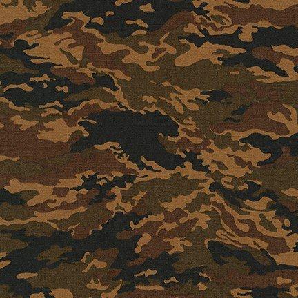 Robert Kaufman Camouflage by Sevenberry -SB-88302D4-4-Brown