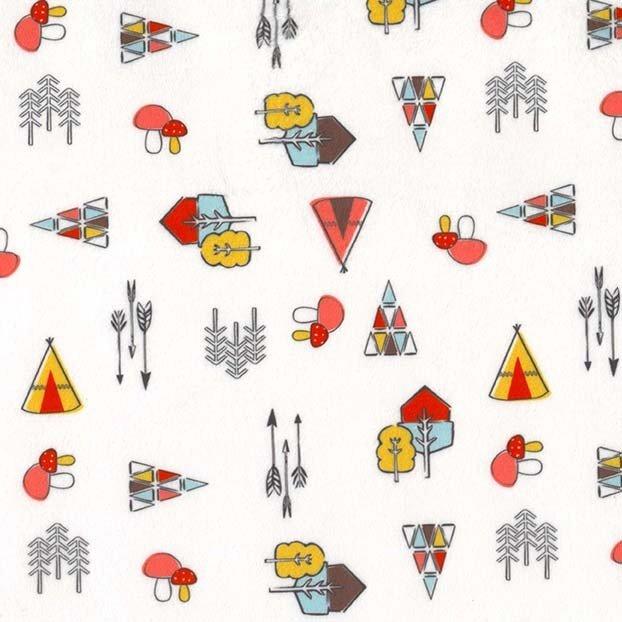 Michael Miller Fabrics Kodiak Ditsy Minky SMZ7660-WHIT-D '