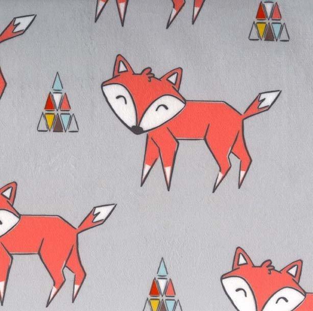 Michael MIller Fabrics Tokala Fox Minky SMZ7682-GRAY-D '