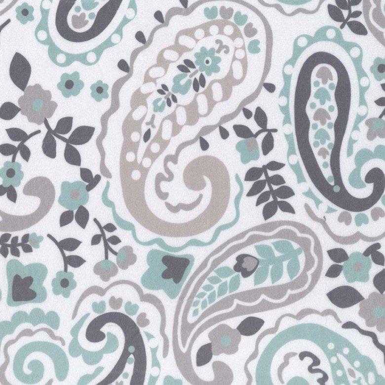 Michael Miller Fabrics Kashmir Paisley Minky SMZ7707-MINT-D '