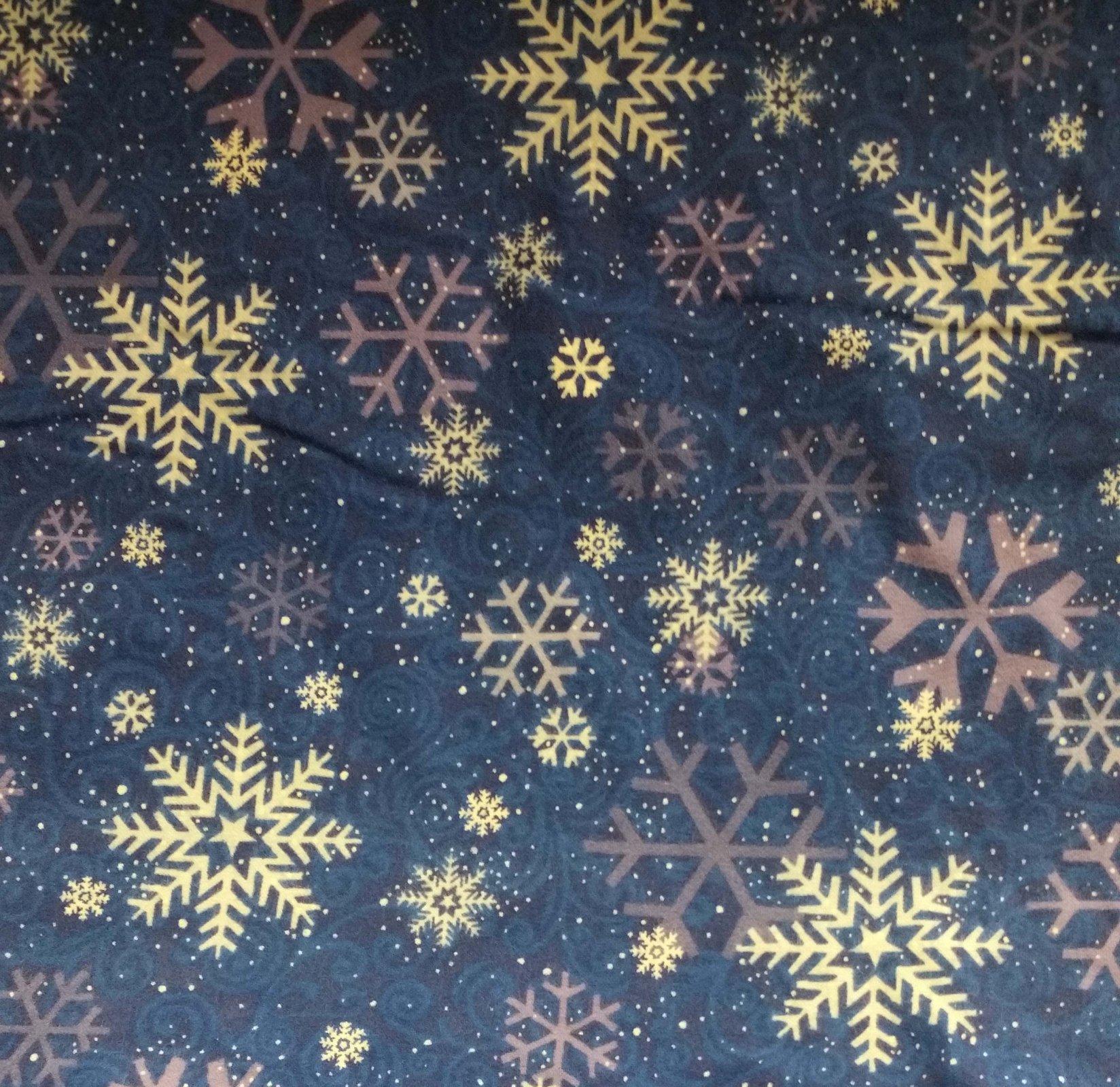 Clothworks Roly Poly Penguins Dark Blue Flannel ~-