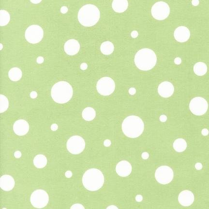 Robert Kaufman Cozy Cotton Flannel SRKF-14731-52  Dots Pistacho `