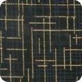 Robert Kaufman Quilter's Linen Metallic Black`