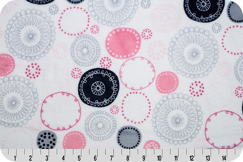 Shannon Fabrics Whimsy Circle Cuddle WHIMSYCIRCLEPINK '