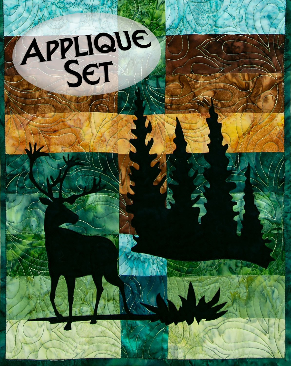 Wildwood Caribou Applique Set Northern Threads +