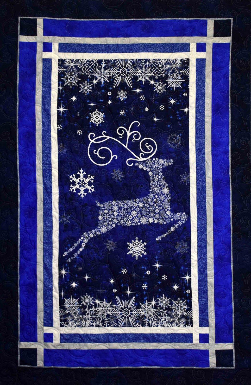 Christmas Reindeer Quilt- Blue