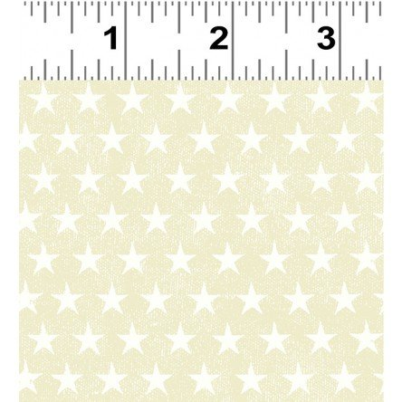 Clothworks Land That I Love Y2416-58  Stars Light Butter  '