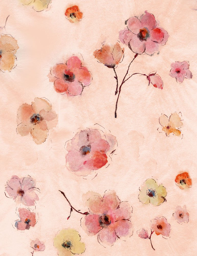 Watercolor Allover Flowers