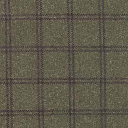 18127-G2 45'' Maywood Studios Deep Green Double Windowpane Woolies Flannel