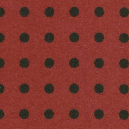18145-R2 45'' Maywood Studios Big Red Polka Dot Woolies Flannel