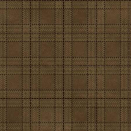 F8632-39 45'' Henry Glass & Co. Folk Art Flannel Tobacco Plaid Flannel