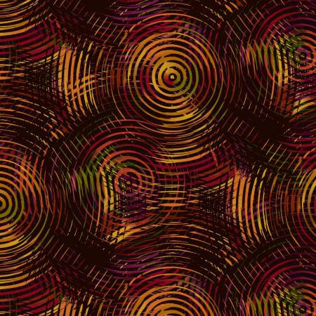 8700-38 108'' Henry Glass and Co. Autumn Ombre Colored Circles Wide Backing