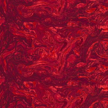 183-125201 118'' Fabriquilt Ruby Red Italian Marble Wide Backing