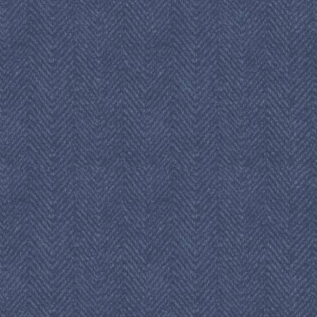 1841-B3 45'' Maywood Studios Woolies Flannel Blue Herringbone