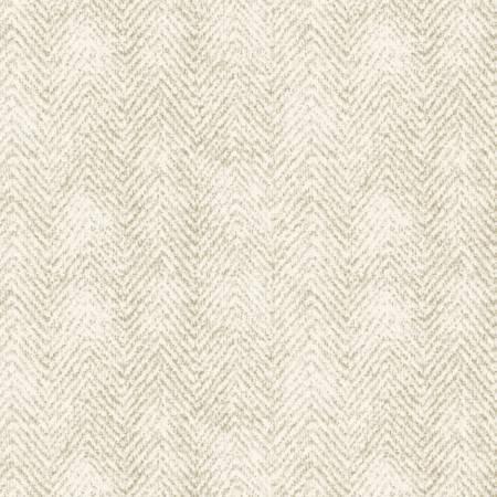 1841-E2 45'' Maywood Studios Ecru Herringbone Woolies Flannel
