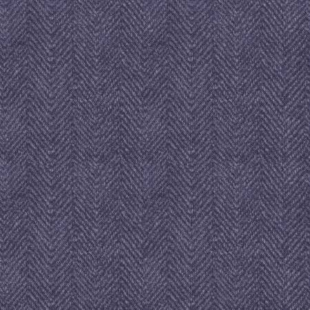 1841-V 45'' Maywood Studios Purple Herringbone Woolies Flannel