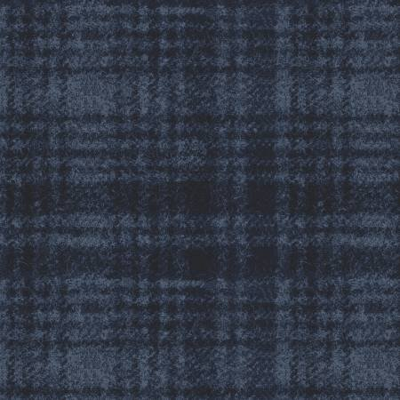 18501-N 45'' Maywood Studios Navy Window Pane Woolies Flannel