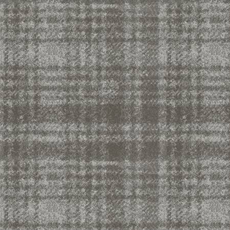 18501-K 45'' Maywood Studios Gray Window Pane Woolies Flannel
