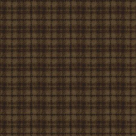 18502-A 45'' Maywood Studios Brown Plaid Woolies Flannel
