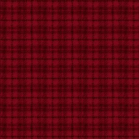 18502-R 45'' Maywood Studios Deep Red Plaid Woolies Flannel