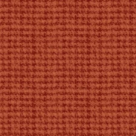 18503-O 45'' Maywood Studios Orange Houndstooth Woolies Flannel
