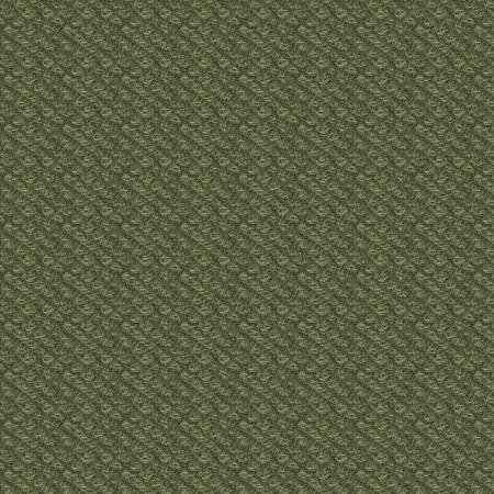 18505-G 45'' Maywood Studios Green Poodle Boucle Woolies Flannel