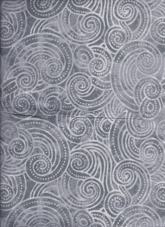 2072-990 108'' Wilmington Prints  Gray Dotty Waves
