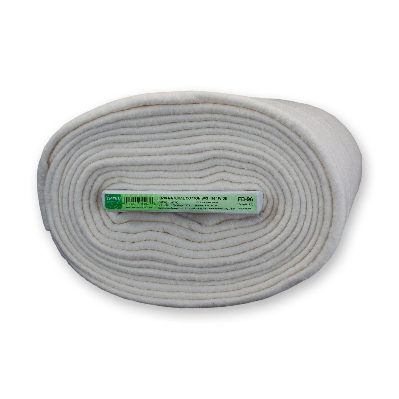 Pellon FB-96 100% Natural Cotton Batting With Scrim 9 Yard Board