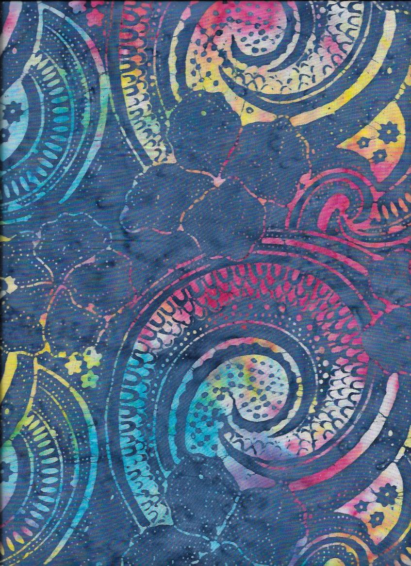 B7781-Rainbow 106'' Timeless Treasures Xtonga  Wide Backing Batik
