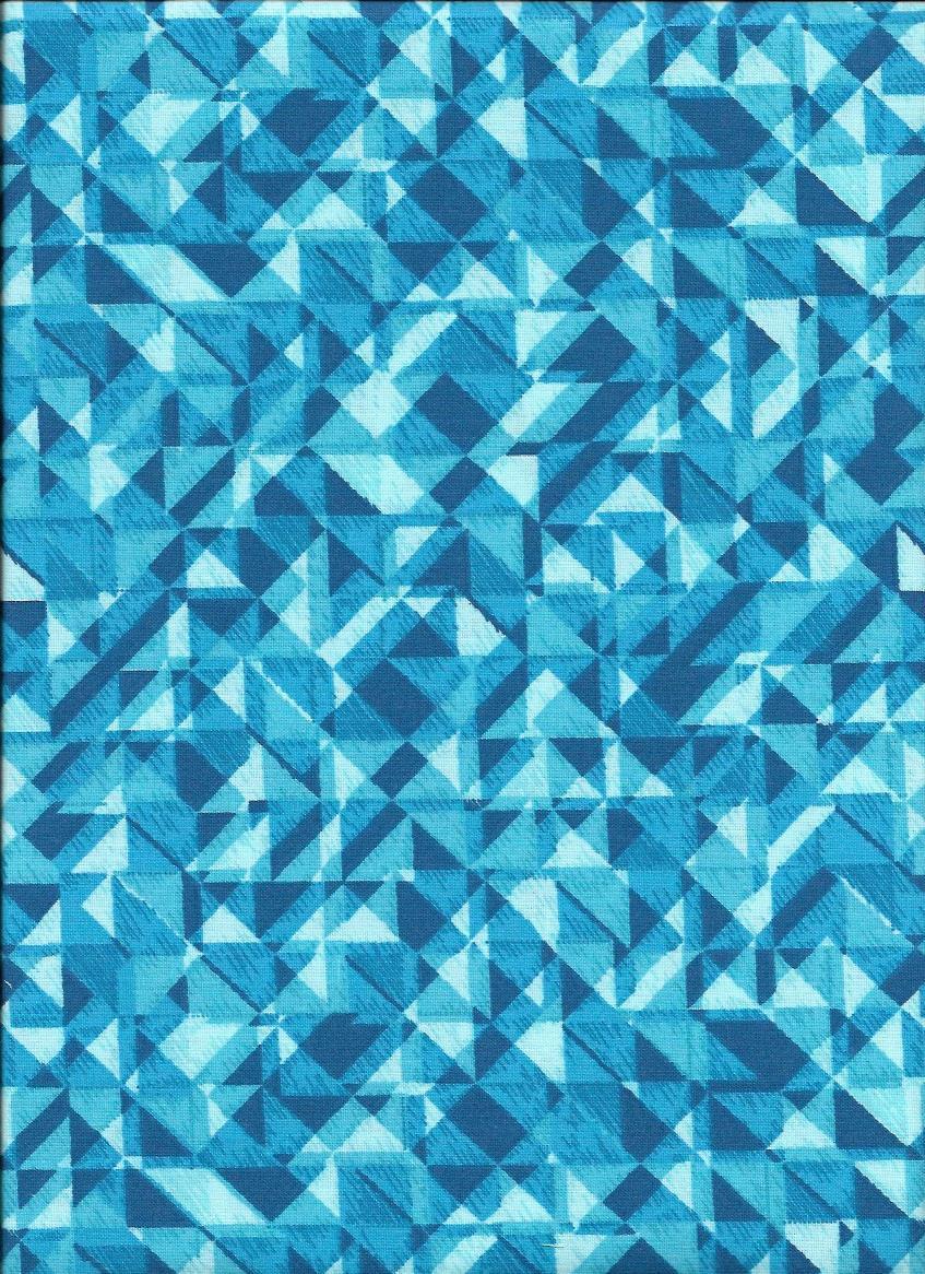 3049-67 108'' Studio e.  Turquoise/White Prism
