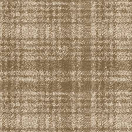 18501-T 45'' Maywood Studios Ecru Window Pane Woolies Flannel