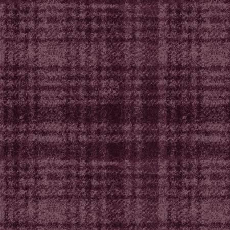 18501-V 45'' Maywood Studios Plum Window Pane Woolies Flannel
