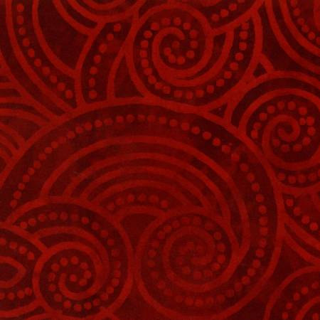 2072W 108'' Wilmington Prints Red Dotty Waves Wide Backing